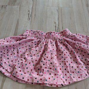 Crazy 8 girl polka dots skirt to toddler 2T